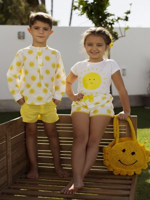 camiseta y short niña soles