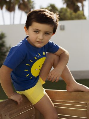 camiseta y pantalon sol niño mon petit bonbon