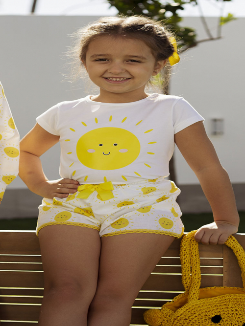 camiseta y short niña mon petit bonbon