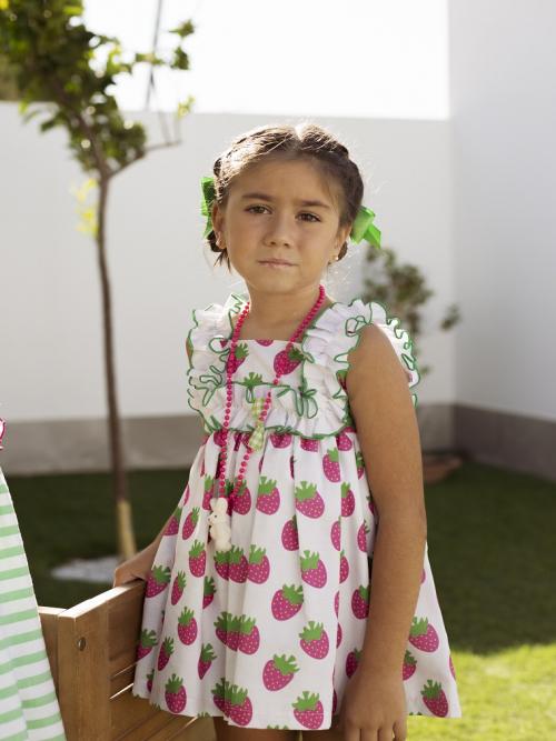 vestido niña fresas mon petit bonbon