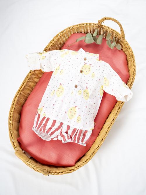 camisa mao y braguita bombacho coleccciones limones babé niño