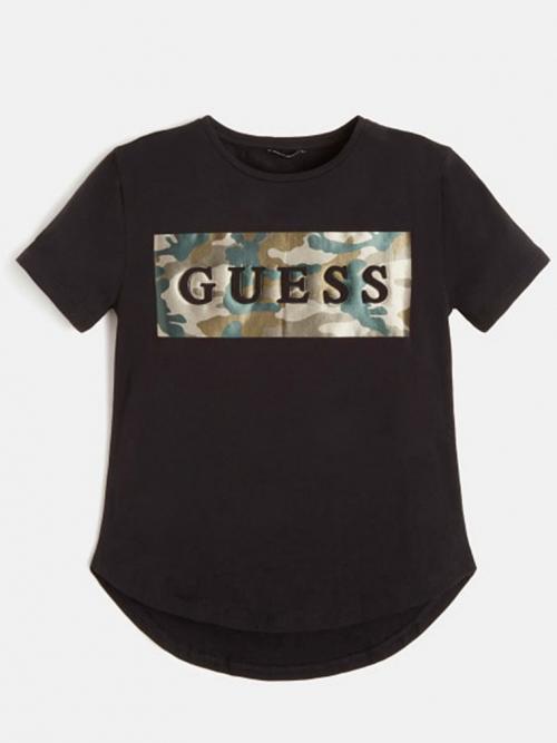 camisa manga corta guess negra militar uno uno