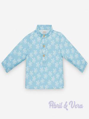 camisa mao paz rodriguez tortugas frontal