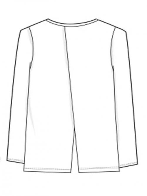 camiseta niña guess blanca parte trasera