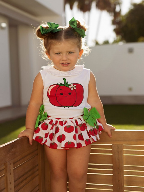 camiseta y braguita tomates mon petit bonbon
