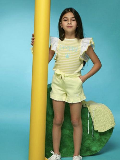 conjunto eva castro preppy amarillo niña