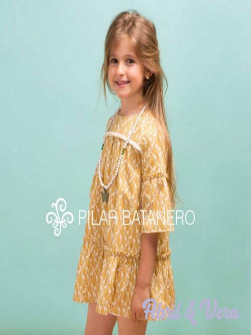 vestido con estampado jirafa pilar batanero