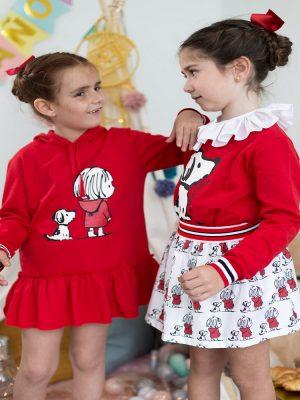 vestido mon petit bonbon punto rojo perro y niña_1